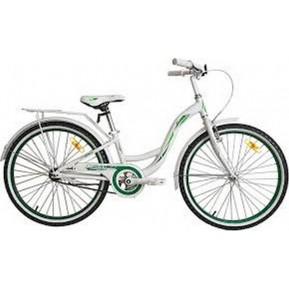 "Велосипед VNC 24"" Beverly AC, 24-BEAC-28-WG, 28см white/green  Фото №1"