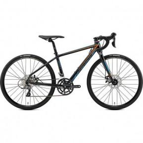 """Велосипед 26"""" Merida MISSION J.ROAD 4S(39cм) METALLIC BLACK(ORANGE/BLUE) Фото №1"""