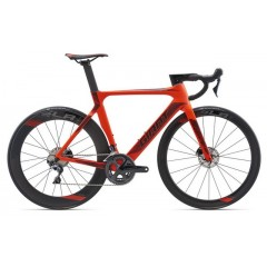 Велосипед Giant Propel Advanced Disc неон красн. - 2018