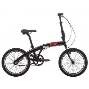 Велосипед 20'' Pride MINI 3 черный/ярко-красный 2021 Фото №1