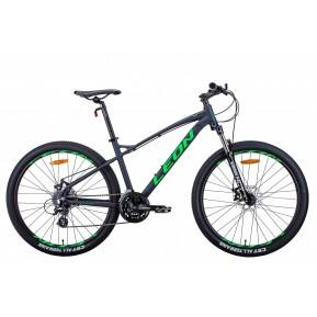 """Велосипед 27.5"""" LEON XC-90 2021 графитовый с зеленым Фото №1"""