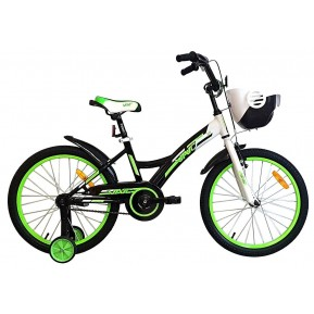 "Велосипед детский 16"" VNC Wave 16 2021 black-green Фото №1"