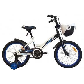 "Велосипед детский 18"" VNC Wave 18 2021 white-blue Фото №1"