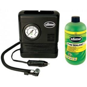 Ремкомплект для автопокрышек Smart Spair (герметик + воздушный компрессор), Slime Фото №1
