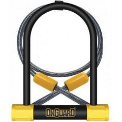 Велозамок  U-образный ONGUARD BULLDOG DT 115х230х13мм + 120смx10 мм