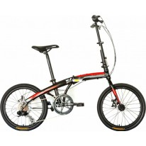 "Велосипед складаний 20"" Trinx Dolphin 1.0 2021 Black-White-Red"