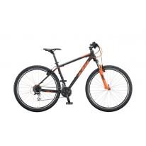 """Горный велосипед 29"""" KTM CHICAGO CLASSIC 2020 black matt (orange)"""