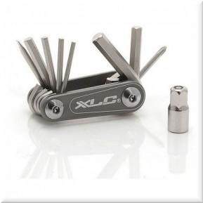 Набор шестигранников XLC 'Nano', 9 функций, серебристый Фото №1