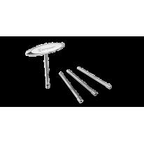 Ключ для спиц Birzman c Т-образной ручкой, серебристый