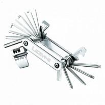 Мультитул Lezyne BLOX - 23, серебристый, Алюминиевые ручки, биты из нержавеющей стали, выжимка цепи