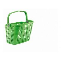 Корзина BELLELLI PLAZA VERDE GIALLASTRO с креплением на руль, пластиковая, зелёная
