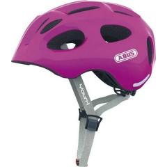 Велошлем детский/подростковый ABUS YOUN-I Sparkling Pink + чехол от дождя