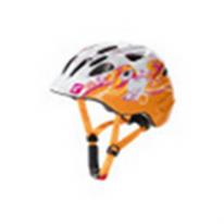 """Велошлем  детский Akino белый/оранжевый """"пони"""" размер S (49-53 см)"""