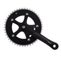 Комплект шатунів  Prowheel Solid-246T-1-PT, 46T, шатун 175мм чорні