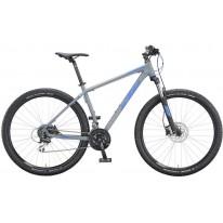 """Велосипед 27.5 """" KTM CHICAGO DISC - 2020 серо-синий"""