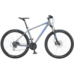 "Велосипед 27.5 "" KTM CHICAGO DISC - 2020 серо-синий  Фото №1"