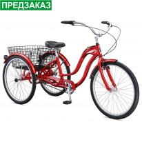 """Вантажний велосипед  26"""" Schwinn Town&Country 2021 червоний"""