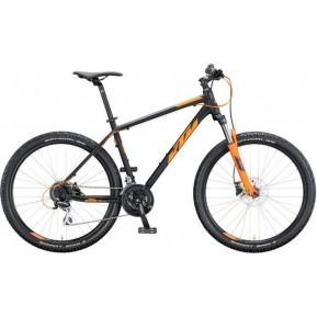 """Велосипед 27.5 """" KTM CHICAGO DISC - 2020 черно-оранжевый Фото №1"""