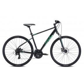 "Велосипед 28"" Fuji TRAVERSE 1.7  - 2021 Satin Black Green  2021 Фото №1"