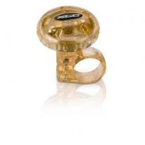 Звонок  велосипедный XLC DD-M012, прозрачно-золотой, Ø36мм