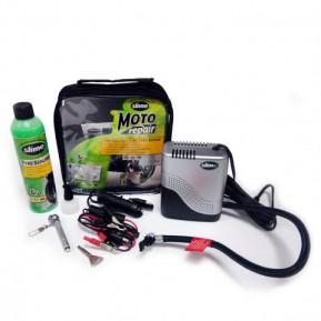 Ремкомплект для мотопокрышек MOTO Power Sport (Герметик + воздушный компрессор), Slime Фото №1