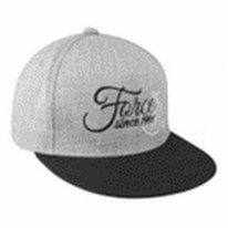 Кепка FORCE 1991 straight visor, gray-black
