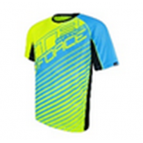 Футболка FORCE MTB ATTACK, fluo blue
