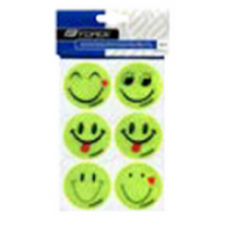 Набор стикеров yellow reflective  FORCE SMILE,6pcs