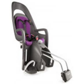 HAMAX - Велокресло детское заднее Caress на подседельную трубу серо-белое, фиолетовая подкладка Фото №1