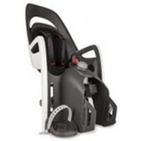 HAMAX - Велокресло детское заднее Caress на подседельную трубу серо-белое, черная подкладка