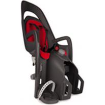 HAMAX - Велокресло детское заднее Caress на подседельную трубу серое, красная подкладка