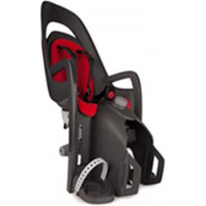 HAMAX - Велокресло детское заднее Caress на подседельную трубу серое, красная подкладка Фото №1