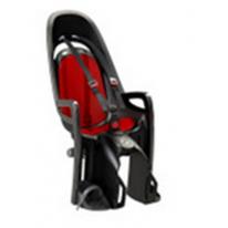 Велокресло детское  заднее HAMAX Zenith на багажник серое-красная подкладка