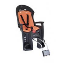 Велокресло детское  заднее HAMAX Siesta на раму серое-оранжевая подкладка