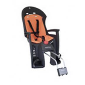 Велокресло детское  заднее HAMAX Siesta на раму серое-оранжевая подкладка Фото №1
