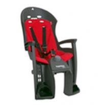 Велокресло детское  заднее HAMAX Siesta на багажник серое-красная подкладка