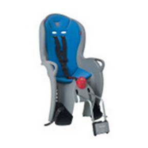 Велокресло детское  заднее HAMAX Sleepy на подседельную трубу серое-голубая подкладка Фото №1