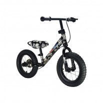 "Беговел  12"" Kiddimoto Super Junior MAX SUPER SKULLZ металлический"
