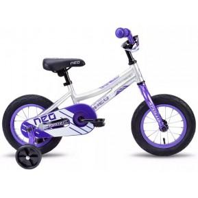 """Велосипед 12"""" Apollo NEO girls 2019 фиолетовый/белый Фото №1"""