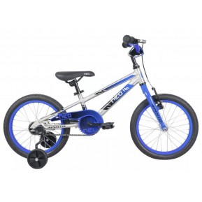 "Велосипед 16"" Apollo NEO boys 2022 Brushed Alloy / Blue / Black Fade Фото №1"