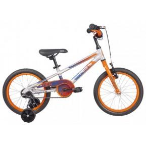 """Велосипед 16"""" Apollo NEO boys 2022 Brushed Alloy / Orange / Navy Blue Fade Фото №1"""