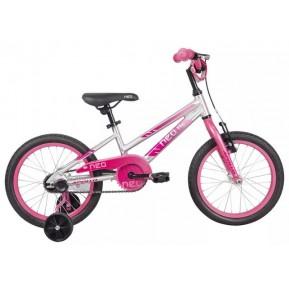 "Велосипед 16"" Apollo NEO girls 2022 Brushed Alloy / Pink / Dark Pink Fade Фото №1"