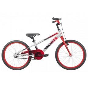 "Велосипед 20"" Apollo NEO boys 2022 Brushed Alloy / Red / Black Fade Фото №1"