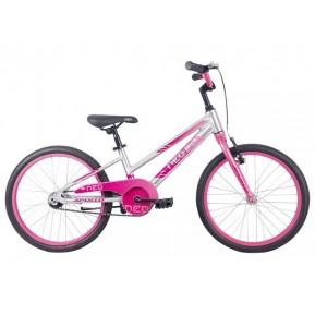 "Велосипед 20"" Apollo NEO girls 2022 Brushed Alloy / Pink / Dark Pink Fade Фото №1"