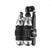 Клапан + 2 балона Lezyne CO2 TWIN KIT 25G черный
