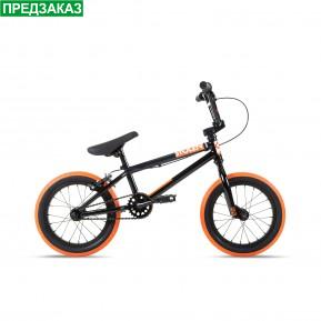 """Велосипед 14"""" Stolen AGENT 14.60"""" 2021 BLACK W/ DARK NEON ORANGE TIRES Фото №1"""