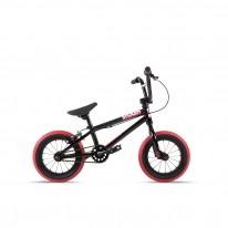 """Велосипед 12"""" Stolen AGENT 13.25"""" 2021 BLACK W/ DARK RED TIRES"""