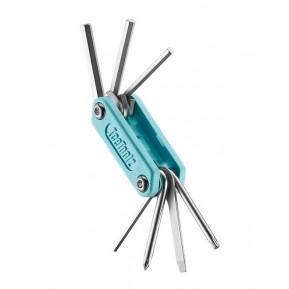 """Ключ Ice Toolz """"Handy-7"""" 94H2 складной, нержавеющая сталь, голубой Фото №1"""