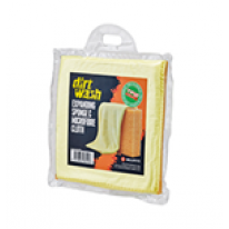 Губка и салфетка для чистки Dirtwash Expanding Sponge and Microfibre Cloth